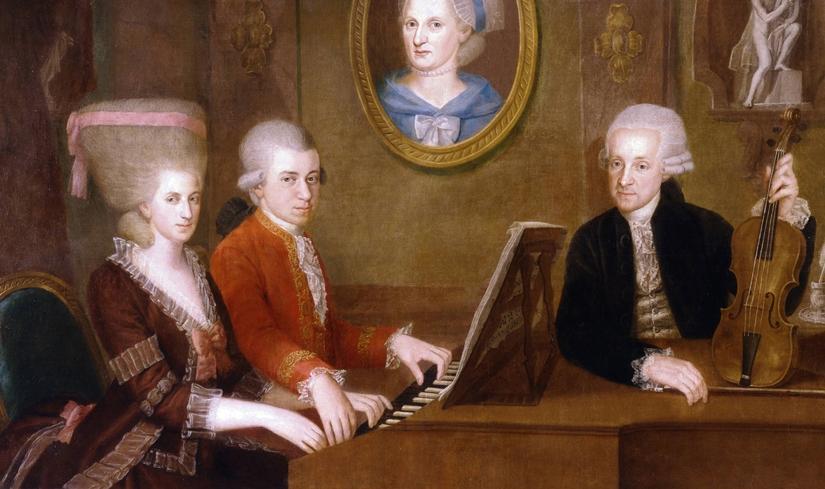 At the Piano: Mozart