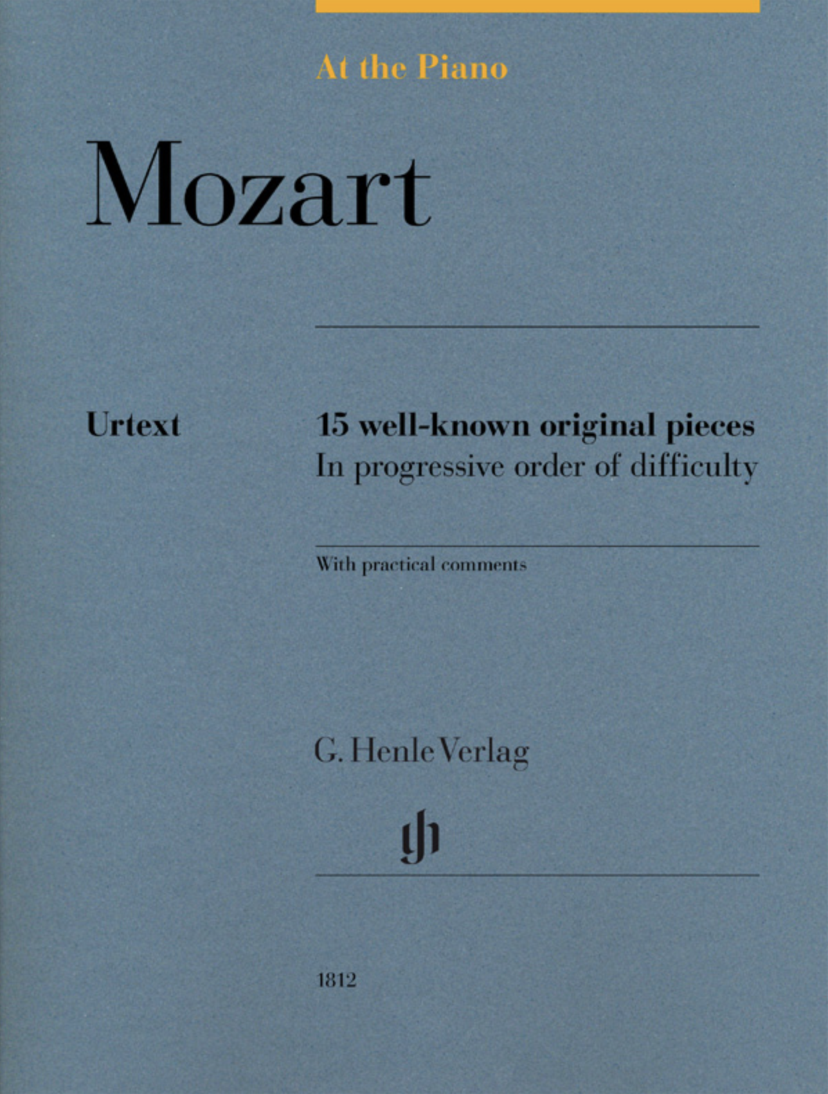 Mozart At the Piano Henle Verlag cover